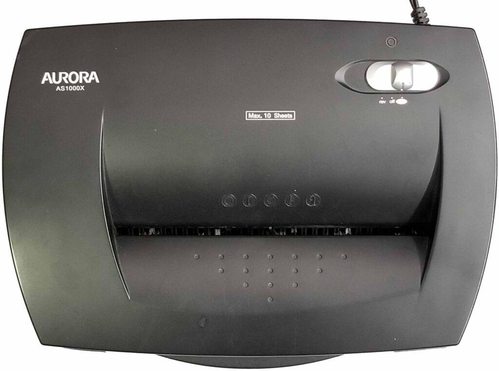 Aurora AS1000X shredder